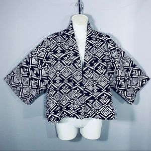 Geometric Short Jacket